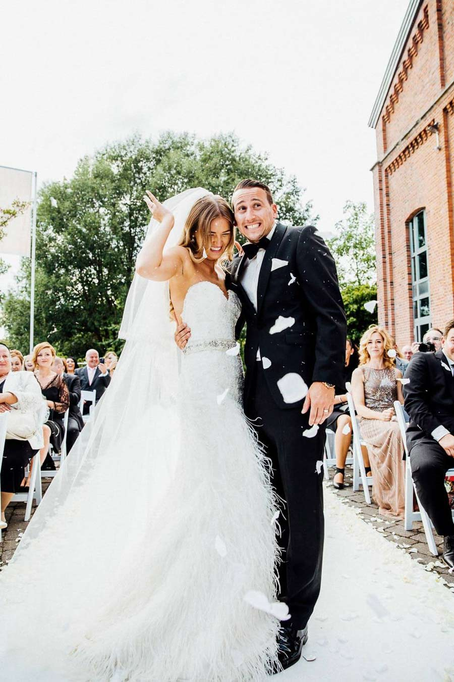 Strahlende Momente von Braut und Bräutigam hochzeitsfotografie hannover